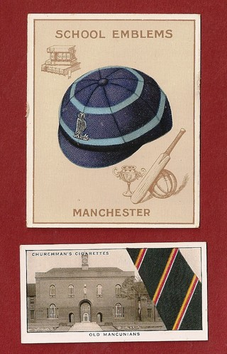Cigarette cards showing Manchester Grammar School