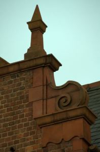 Fig 3: Detail of decorative patterning on front elevation. © 2012 HistoryME.