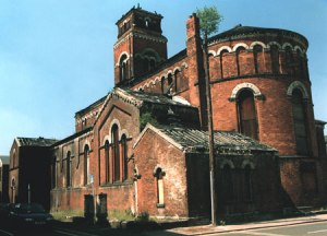 St Peters Church before restoration in 1996. Courtesy J. Shaw.