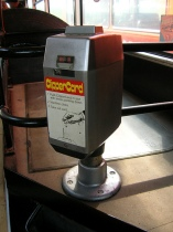 Almex M self cancelling ticket (clipper card) machine. Courtesy J. Shaw.