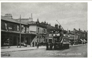 Tramcar on Stockport Road in Levenshulme in 1905. Courtesy P. Stanley.
