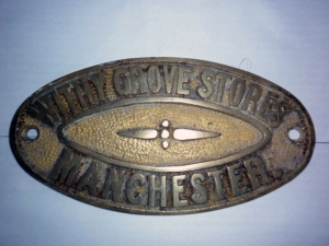 Brass Safe Plate – Withy Grove Stores Ltd