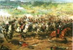 The Battle of Reichshoffeen 1870, by Aimé Nicolas Morot (1850-1913) watercolour of the Franco-Prussian War