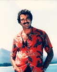 Tom Selleck starring in Magnum PI. Image courtesy J. Shaw.