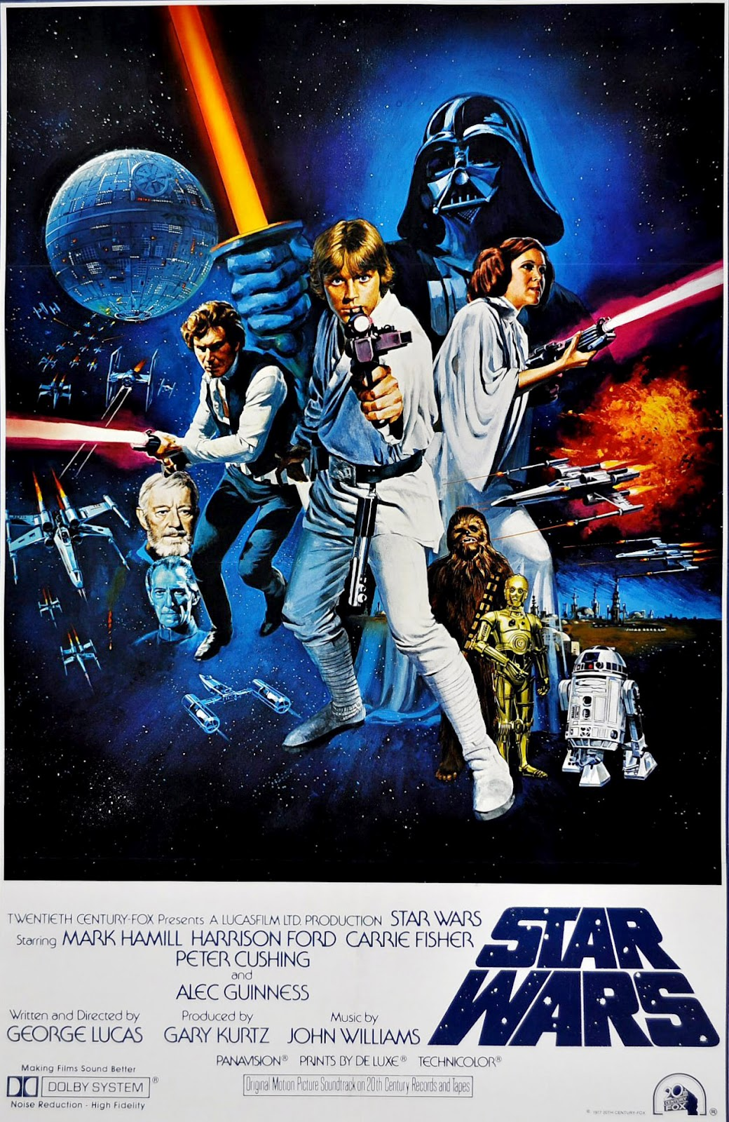 Tom Chantrell star wars poster
