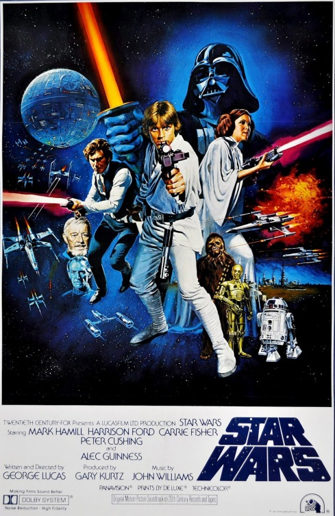 Star Wars - A New Hope (1977) Style C by Tom Chantrell. © 2014 Prodigi.
