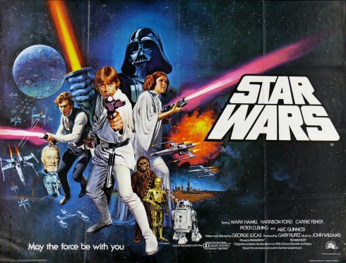 Star Wars - A New Hope (1977) Style C UK Quad by Tom Chantrell-2